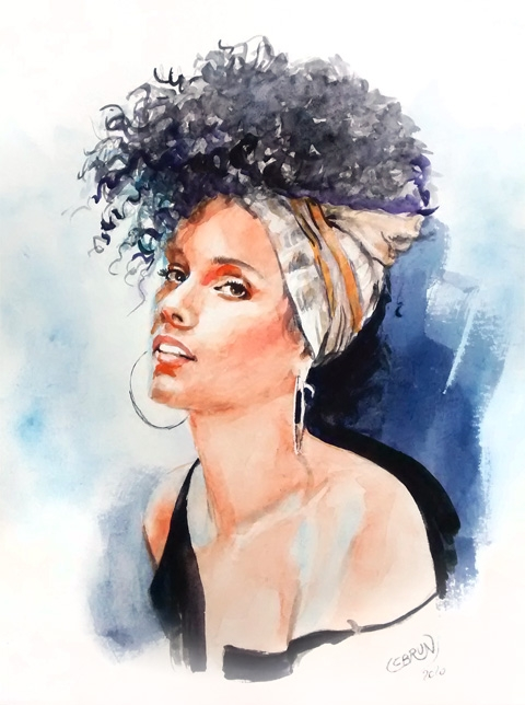 Alicia Keys by Lebrun